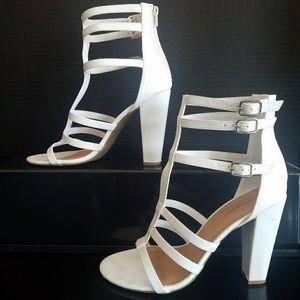 Bamboo high heel gladiator sandals